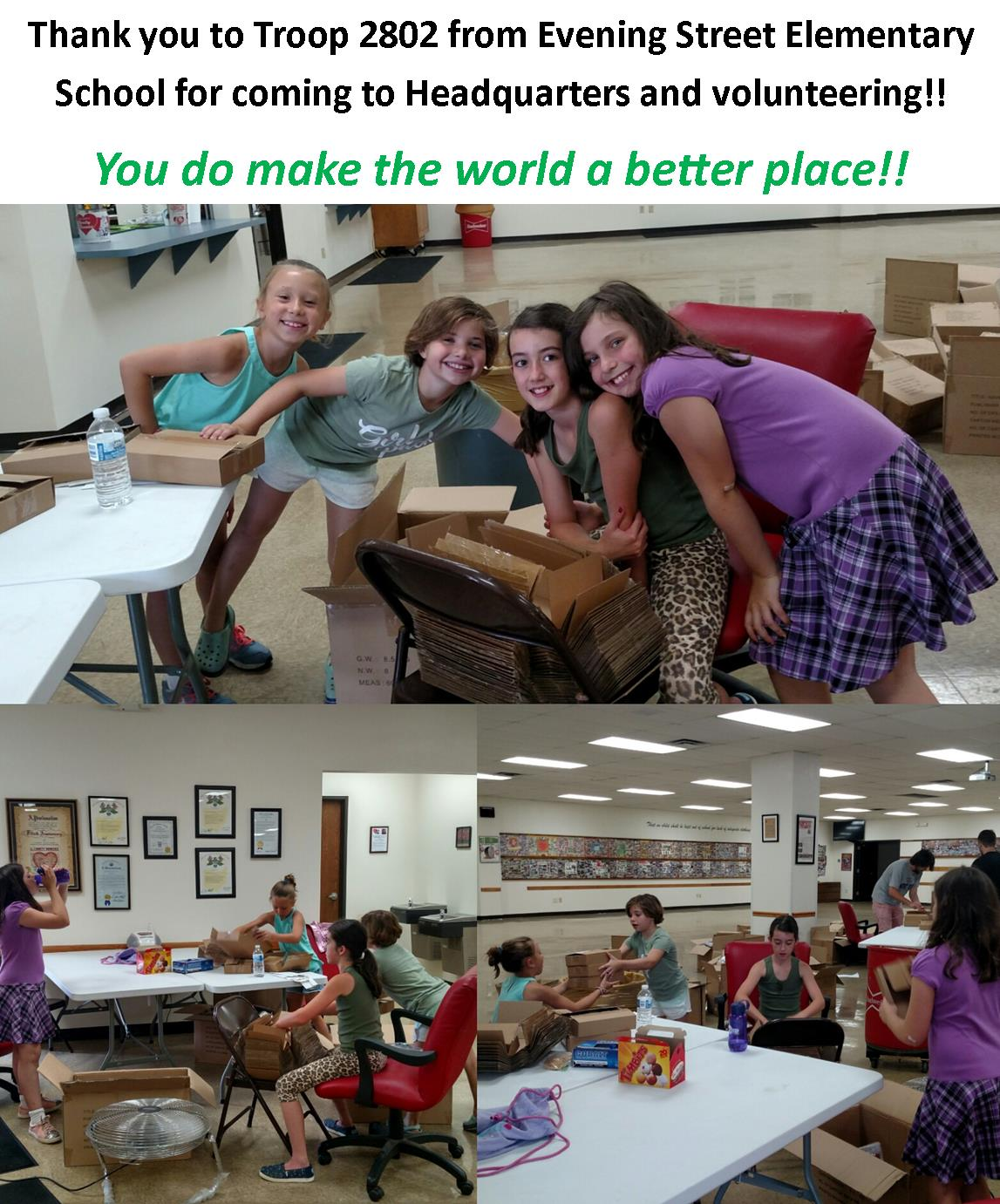 Girl Scouts volunteering 2018