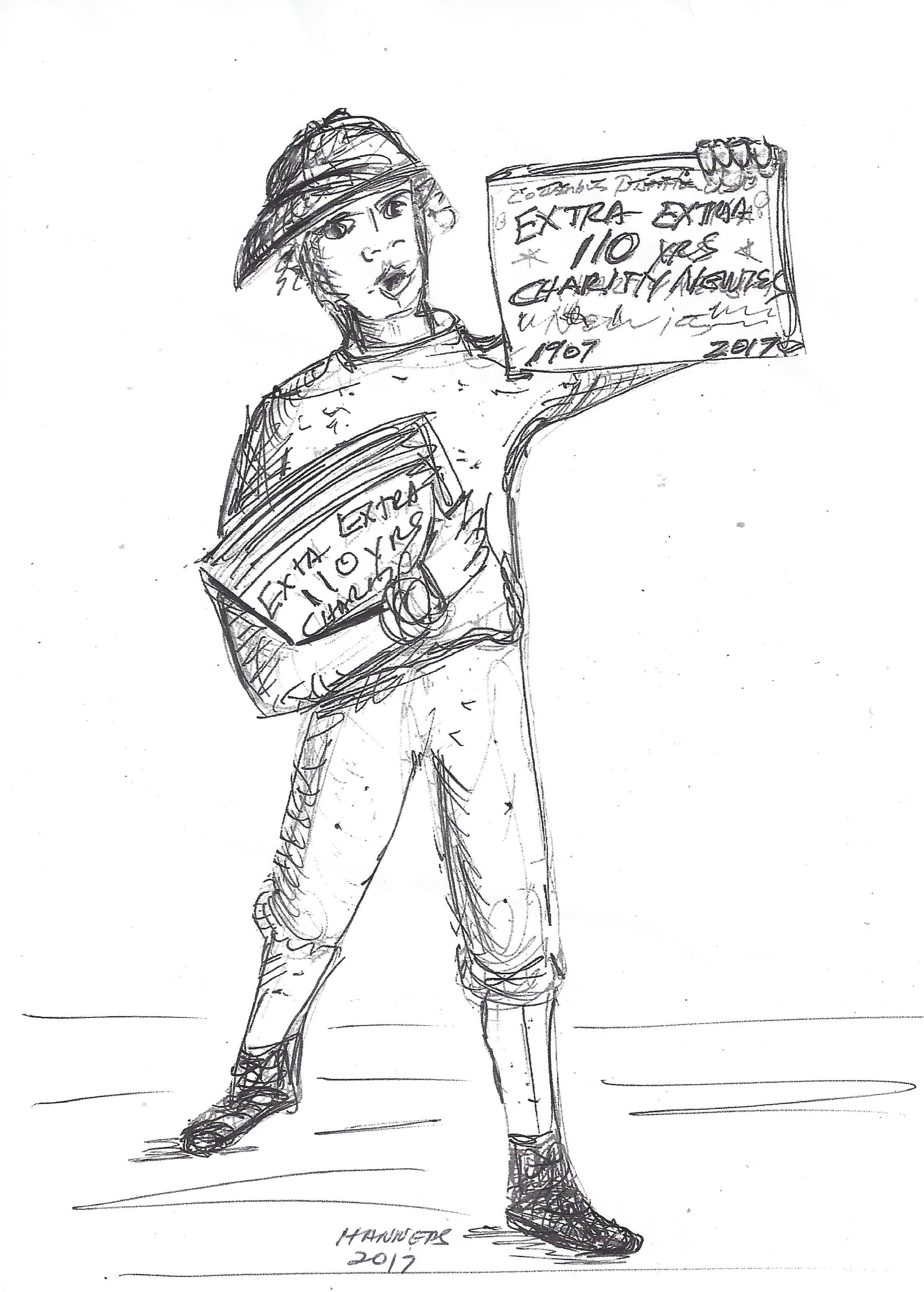 Newsboy Artist rendition